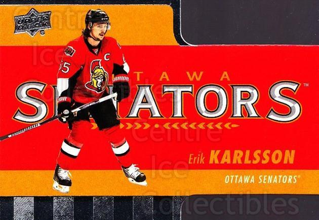 2015-16 Tim Hortons Die Cuts #4 Erik Karlsson<br/>16 In Stock - $2.00 each - <a href=https://centericecollectibles.foxycart.com/cart?name=2015-16%20Tim%20Hortons%20Die%20Cuts%20%234%20Erik%20Karlsson...&quantity_max=16&price=$2.00&code=692735 class=foxycart> Buy it now! </a>