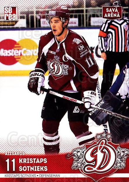 2015-16 Russian KHL Dinamo Riga #H01 Kristaps Sotnieks<br/>1 In Stock - $3.00 each - <a href=https://centericecollectibles.foxycart.com/cart?name=2015-16%20Russian%20KHL%20Dinamo%20Riga%20%23H01%20Kristaps%20Sotnie...&price=$3.00&code=692766 class=foxycart> Buy it now! </a>