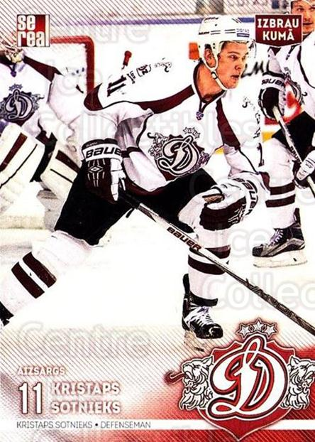 2015-16 Russian KHL Dinamo Riga #A01 Kristaps Sotnieks<br/>1 In Stock - $3.00 each - <a href=https://centericecollectibles.foxycart.com/cart?name=2015-16%20Russian%20KHL%20Dinamo%20Riga%20%23A01%20Kristaps%20Sotnie...&price=$3.00&code=692808 class=foxycart> Buy it now! </a>