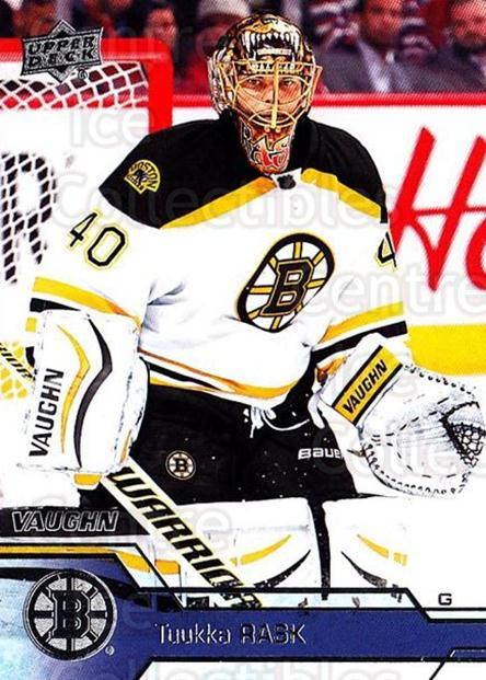 2016-17 Upper Deck #265 Tuukka Rask<br/>9 In Stock - $2.00 each - <a href=https://centericecollectibles.foxycart.com/cart?name=2016-17%20Upper%20Deck%20%23265%20Tuukka%20Rask...&quantity_max=9&price=$2.00&code=692969 class=foxycart> Buy it now! </a>