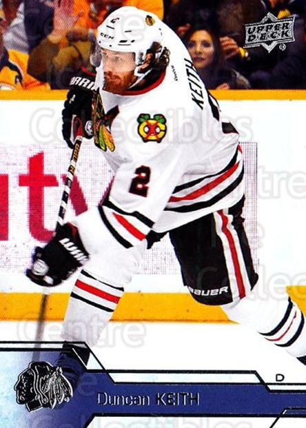 2016-17 Upper Deck #291 Duncan Keith<br/>11 In Stock - $2.00 each - <a href=https://centericecollectibles.foxycart.com/cart?name=2016-17%20Upper%20Deck%20%23291%20Duncan%20Keith...&quantity_max=11&price=$2.00&code=692995 class=foxycart> Buy it now! </a>