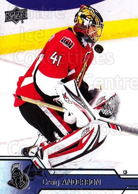2016-17 Upper Deck #385 Craig Anderson<br/>12 In Stock - $1.00 each - <a href=https://centericecollectibles.foxycart.com/cart?name=2016-17%20Upper%20Deck%20%23385%20Craig%20Anderson...&quantity_max=12&price=$1.00&code=693089 class=foxycart> Buy it now! </a>