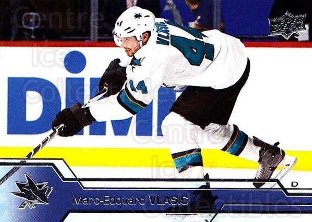 2016-17 Upper Deck #405 Marc-Edouard Vlasic<br/>12 In Stock - $1.00 each - <a href=https://centericecollectibles.foxycart.com/cart?name=2016-17%20Upper%20Deck%20%23405%20Marc-Edouard%20Vl...&quantity_max=12&price=$1.00&code=693109 class=foxycart> Buy it now! </a>