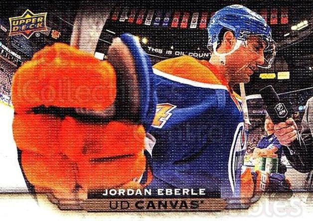 2015-16 Upper Deck Canvas #34 Jordan Eberle<br/>8 In Stock - $2.00 each - <a href=https://centericecollectibles.foxycart.com/cart?name=2015-16%20Upper%20Deck%20Canvas%20%2334%20Jordan%20Eberle...&quantity_max=8&price=$2.00&code=693421 class=foxycart> Buy it now! </a>