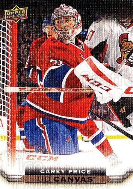 2015-16 Upper Deck Canvas #44 Carey Price<br/>1 In Stock - $10.00 each - <a href=https://centericecollectibles.foxycart.com/cart?name=2015-16%20Upper%20Deck%20Canvas%20%2344%20Carey%20Price...&price=$10.00&code=693431 class=foxycart> Buy it now! </a>