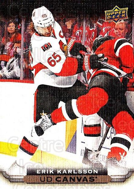 2015-16 Upper Deck Canvas #63 Erik Karlsson<br/>4 In Stock - $3.00 each - <a href=https://centericecollectibles.foxycart.com/cart?name=2015-16%20Upper%20Deck%20Canvas%20%2363%20Erik%20Karlsson...&quantity_max=4&price=$3.00&code=693450 class=foxycart> Buy it now! </a>