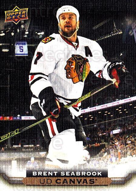 2015-16 Upper Deck Canvas #139 Brent Seabrook<br/>4 In Stock - $2.00 each - <a href=https://centericecollectibles.foxycart.com/cart?name=2015-16%20Upper%20Deck%20Canvas%20%23139%20Brent%20Seabrook...&quantity_max=4&price=$2.00&code=693526 class=foxycart> Buy it now! </a>
