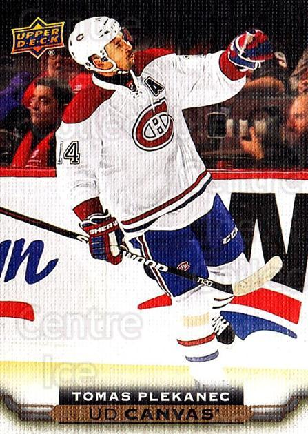 2015-16 Upper Deck Canvas #168 Tomas Plekanec<br/>5 In Stock - $2.00 each - <a href=https://centericecollectibles.foxycart.com/cart?name=2015-16%20Upper%20Deck%20Canvas%20%23168%20Tomas%20Plekanec...&quantity_max=5&price=$2.00&code=693555 class=foxycart> Buy it now! </a>