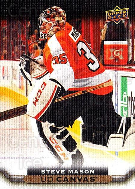 2015-16 Upper Deck Canvas #185 Steve Mason<br/>5 In Stock - $2.00 each - <a href=https://centericecollectibles.foxycart.com/cart?name=2015-16%20Upper%20Deck%20Canvas%20%23185%20Steve%20Mason...&quantity_max=5&price=$2.00&code=693572 class=foxycart> Buy it now! </a>
