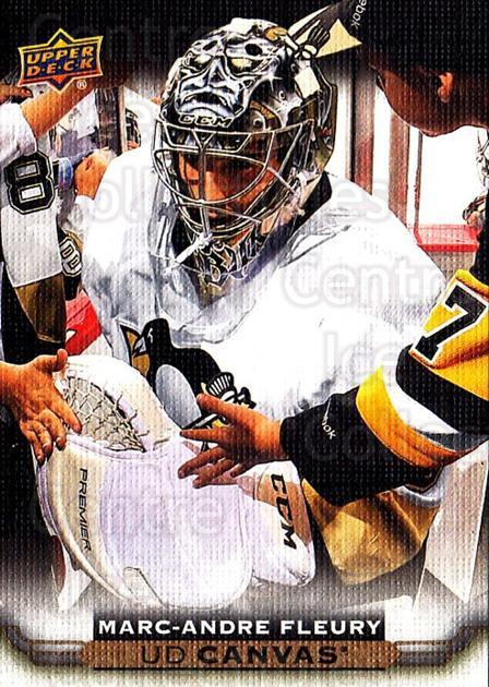 2015-16 Upper Deck Canvas #186 Marc-Andre Fleury<br/>1 In Stock - $3.00 each - <a href=https://centericecollectibles.foxycart.com/cart?name=2015-16%20Upper%20Deck%20Canvas%20%23186%20Marc-Andre%20Fleu...&quantity_max=1&price=$3.00&code=693573 class=foxycart> Buy it now! </a>
