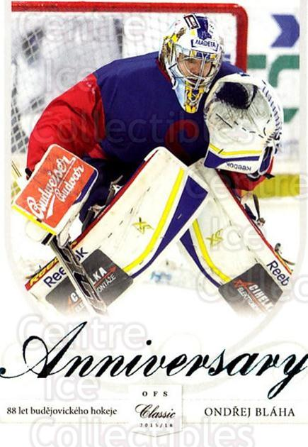 2015-16 Czech Cez Motor Ceske Budejovice Anniversary #1 Ondrej Blaha<br/>1 In Stock - $3.00 each - <a href=https://centericecollectibles.foxycart.com/cart?name=2015-16%20Czech%20Cez%20Motor%20Ceske%20Budejovice%20Anniversary%20%231%20Ondrej%20Blaha...&quantity_max=1&price=$3.00&code=693765 class=foxycart> Buy it now! </a>