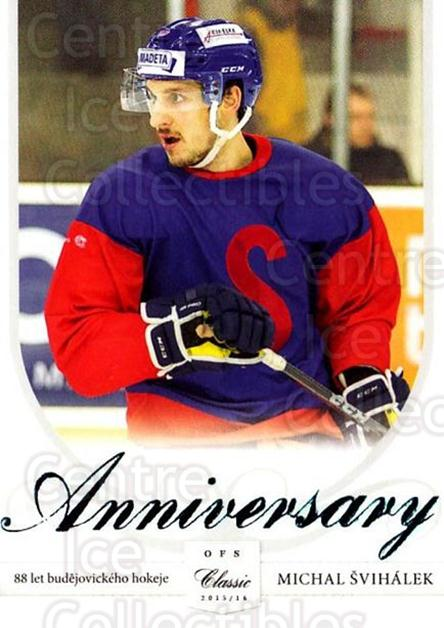 2015-16 Czech Cez Motor Ceske Budejovice Anniversary #19 Michal Svihalek<br/>1 In Stock - $3.00 each - <a href=https://centericecollectibles.foxycart.com/cart?name=2015-16%20Czech%20Cez%20Motor%20Ceske%20Budejovice%20Anniversary%20%2319%20Michal%20Svihalek...&quantity_max=1&price=$3.00&code=693783 class=foxycart> Buy it now! </a>