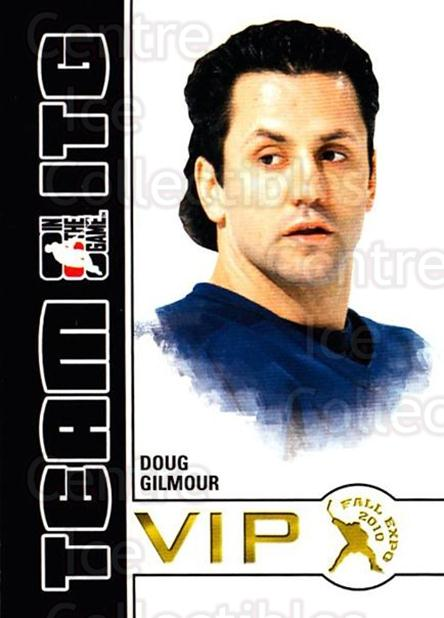 2010-11 ITG Fall Expo Team ITG VIP #10 Doug Gilmour<br/>2 In Stock - $3.00 each - <a href=https://centericecollectibles.foxycart.com/cart?name=2010-11%20ITG%20Fall%20Expo%20Team%20ITG%20VIP%20%2310%20Doug%20Gilmour...&quantity_max=2&price=$3.00&code=693949 class=foxycart> Buy it now! </a>