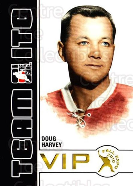 2010-11 ITG Fall Expo Team ITG VIP #11 Doug Harvey<br/>2 In Stock - $3.00 each - <a href=https://centericecollectibles.foxycart.com/cart?name=2010-11%20ITG%20Fall%20Expo%20Team%20ITG%20VIP%20%2311%20Doug%20Harvey...&quantity_max=2&price=$3.00&code=693950 class=foxycart> Buy it now! </a>