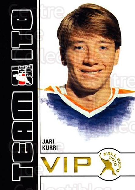 2010-11 ITG Fall Expo Team ITG VIP #15 Jari Kurri<br/>5 In Stock - $3.00 each - <a href=https://centericecollectibles.foxycart.com/cart?name=2010-11%20ITG%20Fall%20Expo%20Team%20ITG%20VIP%20%2315%20Jari%20Kurri...&quantity_max=5&price=$3.00&code=693954 class=foxycart> Buy it now! </a>