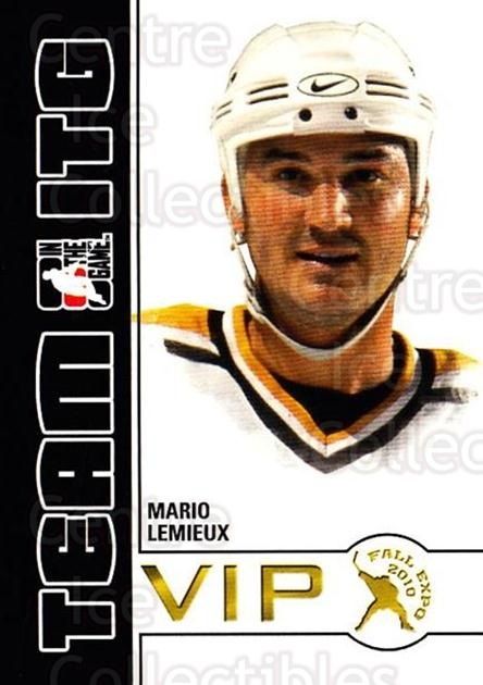 2010-11 ITG Fall Expo Team ITG VIP #20 Mario Lemieux<br/>3 In Stock - $5.00 each - <a href=https://centericecollectibles.foxycart.com/cart?name=2010-11%20ITG%20Fall%20Expo%20Team%20ITG%20VIP%20%2320%20Mario%20Lemieux...&quantity_max=3&price=$5.00&code=693959 class=foxycart> Buy it now! </a>