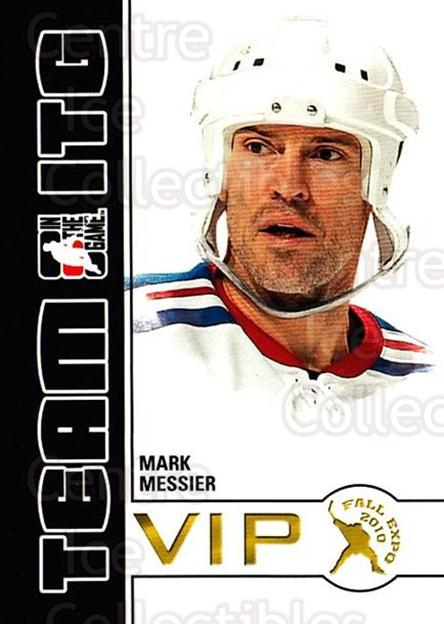 2010-11 ITG Fall Expo Team ITG VIP #21 Mark Messier<br/>5 In Stock - $3.00 each - <a href=https://centericecollectibles.foxycart.com/cart?name=2010-11%20ITG%20Fall%20Expo%20Team%20ITG%20VIP%20%2321%20Mark%20Messier...&quantity_max=5&price=$3.00&code=693960 class=foxycart> Buy it now! </a>