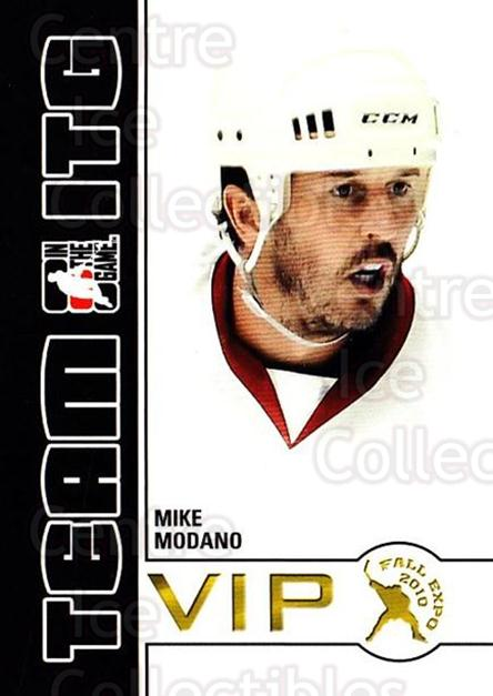 2010-11 ITG Fall Expo Team ITG VIP #26 Mike Modano<br/>5 In Stock - $3.00 each - <a href=https://centericecollectibles.foxycart.com/cart?name=2010-11%20ITG%20Fall%20Expo%20Team%20ITG%20VIP%20%2326%20Mike%20Modano...&quantity_max=5&price=$3.00&code=693965 class=foxycart> Buy it now! </a>