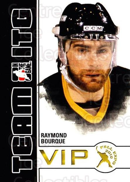 2010-11 ITG Fall Expo Team ITG VIP #32 Raymond Bourque<br/>4 In Stock - $3.00 each - <a href=https://centericecollectibles.foxycart.com/cart?name=2010-11%20ITG%20Fall%20Expo%20Team%20ITG%20VIP%20%2332%20Raymond%20Bourque...&quantity_max=4&price=$3.00&code=693971 class=foxycart> Buy it now! </a>