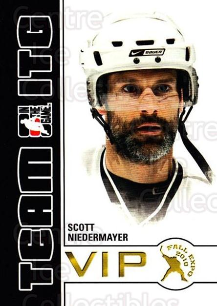 2010-11 ITG Fall Expo Team ITG VIP #35 Scott Niedermayer<br/>5 In Stock - $3.00 each - <a href=https://centericecollectibles.foxycart.com/cart?name=2010-11%20ITG%20Fall%20Expo%20Team%20ITG%20VIP%20%2335%20Scott%20Niedermay...&quantity_max=5&price=$3.00&code=693974 class=foxycart> Buy it now! </a>