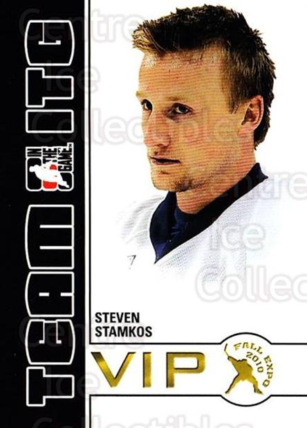 2010-11 ITG Fall Expo Team ITG VIP #37 Steven Stamkos<br/>5 In Stock - $3.00 each - <a href=https://centericecollectibles.foxycart.com/cart?name=2010-11%20ITG%20Fall%20Expo%20Team%20ITG%20VIP%20%2337%20Steven%20Stamkos...&price=$3.00&code=693976 class=foxycart> Buy it now! </a>