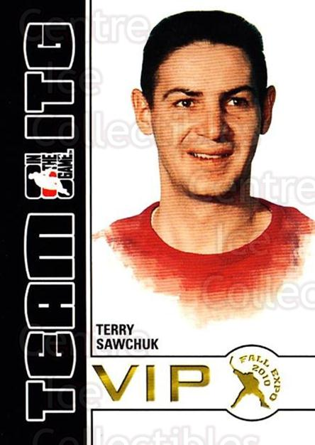 2010-11 ITG Fall Expo Team ITG VIP #40 Terry Sawchuk<br/>2 In Stock - $3.00 each - <a href=https://centericecollectibles.foxycart.com/cart?name=2010-11%20ITG%20Fall%20Expo%20Team%20ITG%20VIP%20%2340%20Terry%20Sawchuk...&quantity_max=2&price=$3.00&code=693979 class=foxycart> Buy it now! </a>