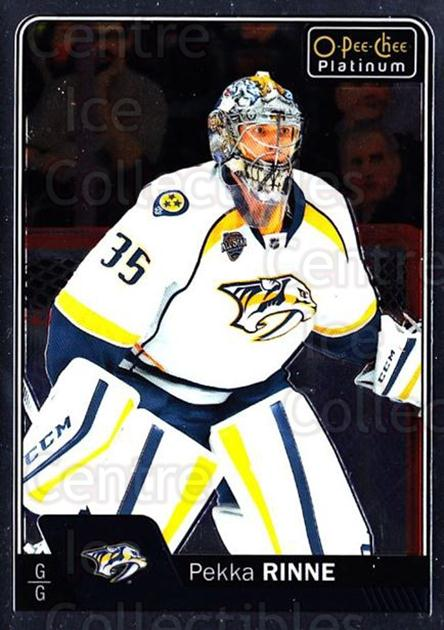2016-17 O-Pee-Chee Platinum #72 Pekka Rinne<br/>3 In Stock - $1.00 each - <a href=https://centericecollectibles.foxycart.com/cart?name=2016-17%20O-Pee-Chee%20Platinum%20%2372%20Pekka%20Rinne...&quantity_max=3&price=$1.00&code=694065 class=foxycart> Buy it now! </a>