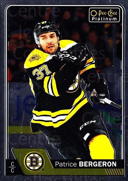 2016-17 O-Pee-Chee Platinum #92 Patrice Bergeron<br/>3 In Stock - $2.00 each - <a href=https://centericecollectibles.foxycart.com/cart?name=2016-17%20O-Pee-Chee%20Platinum%20%2392%20Patrice%20Bergero...&quantity_max=3&price=$2.00&code=694085 class=foxycart> Buy it now! </a>