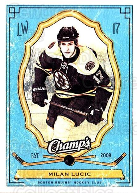 2009-10 Upper Deck Champs #6 Milan Lucic<br/>3 In Stock - $1.00 each - <a href=https://centericecollectibles.foxycart.com/cart?name=2009-10%20Upper%20Deck%20Champs%20%236%20Milan%20Lucic...&quantity_max=3&price=$1.00&code=694199 class=foxycart> Buy it now! </a>