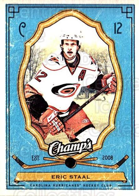 2009-10 Upper Deck Champs #19 Eric Staal<br/>2 In Stock - $1.00 each - <a href=https://centericecollectibles.foxycart.com/cart?name=2009-10%20Upper%20Deck%20Champs%20%2319%20Eric%20Staal...&quantity_max=2&price=$1.00&code=694212 class=foxycart> Buy it now! </a>