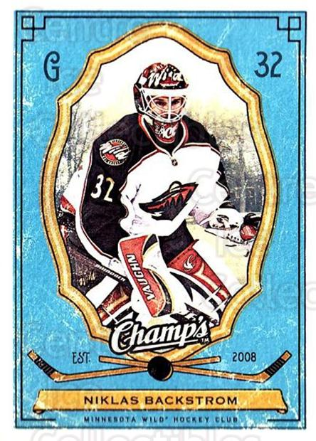 2009-10 Upper Deck Champs #54 Niklas Backstrom<br/>3 In Stock - $1.00 each - <a href=https://centericecollectibles.foxycart.com/cart?name=2009-10%20Upper%20Deck%20Champs%20%2354%20Niklas%20Backstro...&quantity_max=3&price=$1.00&code=694247 class=foxycart> Buy it now! </a>