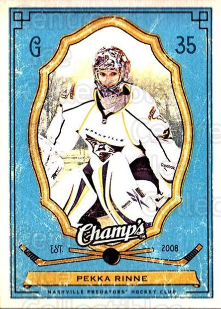 2009-10 Upper Deck Champs #59 Pekka Rinne<br/>3 In Stock - $1.00 each - <a href=https://centericecollectibles.foxycart.com/cart?name=2009-10%20Upper%20Deck%20Champs%20%2359%20Pekka%20Rinne...&quantity_max=3&price=$1.00&code=694252 class=foxycart> Buy it now! </a>