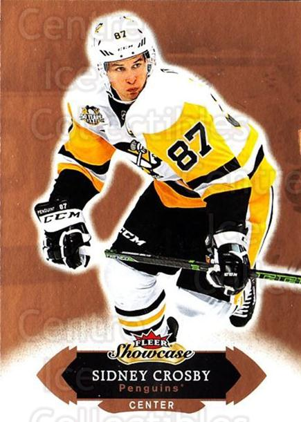 2016-17 Fleer Showcase #1 Sidney Crosby<br/>3 In Stock - $3.00 each - <a href=https://centericecollectibles.foxycart.com/cart?name=2016-17%20Fleer%20Showcase%20%231%20Sidney%20Crosby...&price=$3.00&code=694722 class=foxycart> Buy it now! </a>