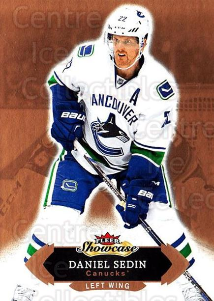 2016-17 Fleer Showcase #4 Daniel Sedin<br/>5 In Stock - $1.00 each - <a href=https://centericecollectibles.foxycart.com/cart?name=2016-17%20Fleer%20Showcase%20%234%20Daniel%20Sedin...&quantity_max=5&price=$1.00&code=694725 class=foxycart> Buy it now! </a>