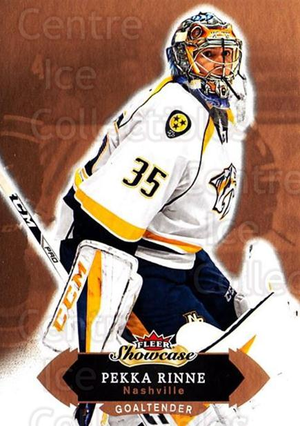 2016-17 Fleer Showcase #73 Pekka Rinne<br/>4 In Stock - $1.00 each - <a href=https://centericecollectibles.foxycart.com/cart?name=2016-17%20Fleer%20Showcase%20%2373%20Pekka%20Rinne...&quantity_max=4&price=$1.00&code=694794 class=foxycart> Buy it now! </a>