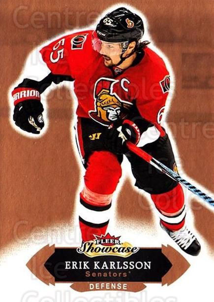 2016-17 Fleer Showcase #78 Erik Karlsson<br/>5 In Stock - $1.00 each - <a href=https://centericecollectibles.foxycart.com/cart?name=2016-17%20Fleer%20Showcase%20%2378%20Erik%20Karlsson...&quantity_max=5&price=$1.00&code=694799 class=foxycart> Buy it now! </a>