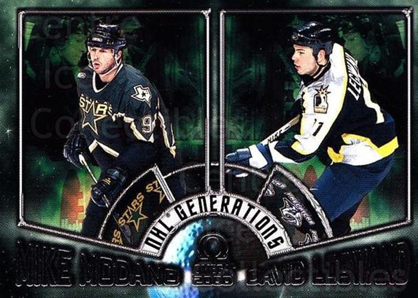 1999-00 Omega NHL Generations #5 Mike Modano, David Legwand<br/>1 In Stock - $5.00 each - <a href=https://centericecollectibles.foxycart.com/cart?name=1999-00%20Omega%20NHL%20Generations%20%235%20Mike%20Modano,%20Da...&quantity_max=1&price=$5.00&code=695001 class=foxycart> Buy it now! </a>