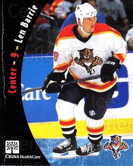 2000-01 Florida Panthers Cigna Health Care #2 Len Barrie<br/>1 In Stock - $3.00 each - <a href=https://centericecollectibles.foxycart.com/cart?name=2000-01%20Florida%20Panthers%20Cigna%20Health%20Care%20%232%20Len%20Barrie...&quantity_max=1&price=$3.00&code=695121 class=foxycart> Buy it now! </a>