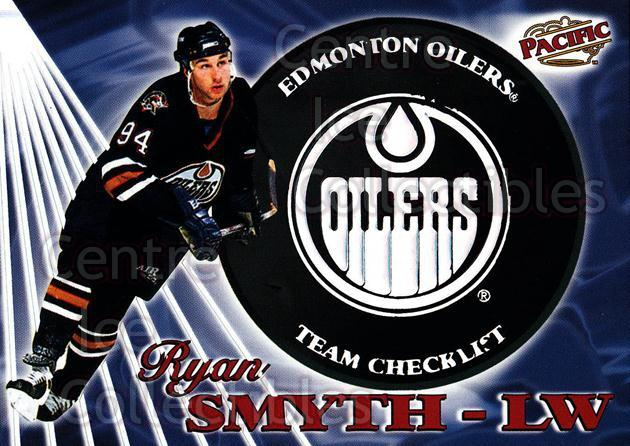 1998-99 Pacific Team Checklists #10 Ryan Smyth<br/>1 In Stock - $3.00 each - <a href=https://centericecollectibles.foxycart.com/cart?name=1998-99%20Pacific%20Team%20Checklists%20%2310%20Ryan%20Smyth...&quantity_max=1&price=$3.00&code=69520 class=foxycart> Buy it now! </a>