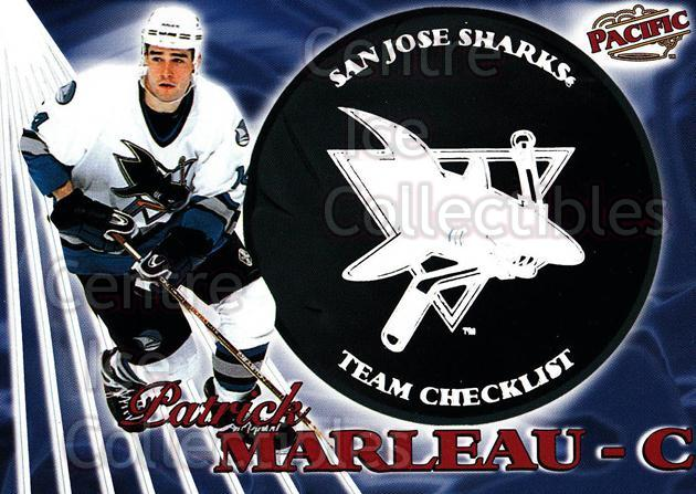 1998-99 Pacific Team Checklists #23 Patrick Marleau<br/>1 In Stock - $3.00 each - <a href=https://centericecollectibles.foxycart.com/cart?name=1998-99%20Pacific%20Team%20Checklists%20%2323%20Patrick%20Marleau...&quantity_max=1&price=$3.00&code=69530 class=foxycart> Buy it now! </a>