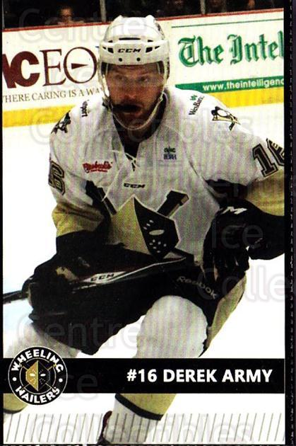 2015-16 Wheeling Nailers #1 Derek Army<br/>8 In Stock - $3.00 each - <a href=https://centericecollectibles.foxycart.com/cart?name=2015-16%20Wheeling%20Nailers%20%231%20Derek%20Army...&quantity_max=8&price=$3.00&code=696226 class=foxycart> Buy it now! </a>
