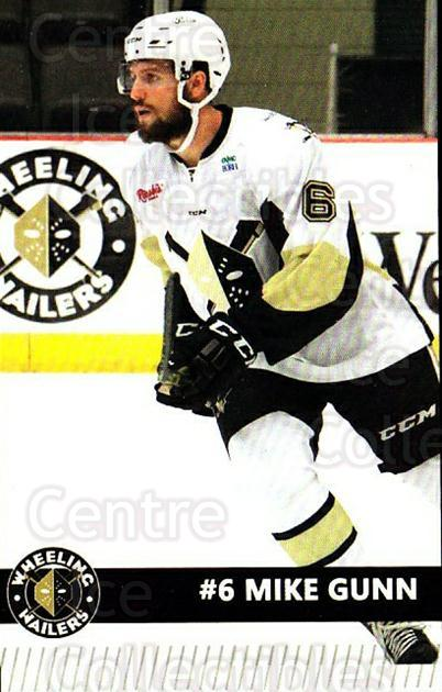 2015-16 Wheeling Nailers #10 Mike Gunn<br/>8 In Stock - $3.00 each - <a href=https://centericecollectibles.foxycart.com/cart?name=2015-16%20Wheeling%20Nailers%20%2310%20Mike%20Gunn...&quantity_max=8&price=$3.00&code=696234 class=foxycart> Buy it now! </a>