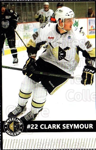 2015-16 Wheeling Nailers #18 Clark Seymour<br/>8 In Stock - $3.00 each - <a href=https://centericecollectibles.foxycart.com/cart?name=2015-16%20Wheeling%20Nailers%20%2318%20Clark%20Seymour...&quantity_max=8&price=$3.00&code=696242 class=foxycart> Buy it now! </a>