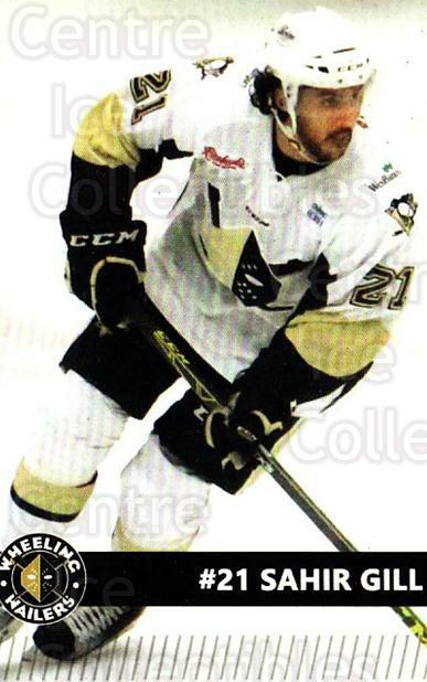 2015-16 Wheeling Nailers #9 Sahir Gill<br/>6 In Stock - $3.00 each - <a href=https://centericecollectibles.foxycart.com/cart?name=2015-16%20Wheeling%20Nailers%20%239%20Sahir%20Gill...&quantity_max=6&price=$3.00&code=696248 class=foxycart> Buy it now! </a>