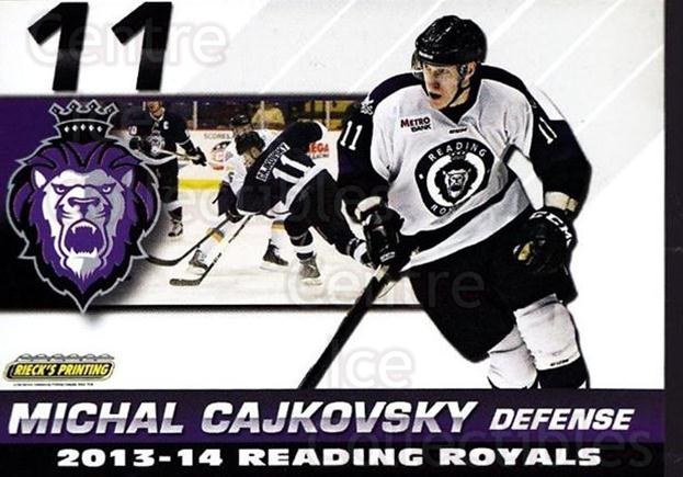 2013-14 Reading Royals #5 Michal Cajkovsky<br/>2 In Stock - $3.00 each - <a href=https://centericecollectibles.foxycart.com/cart?name=2013-14%20Reading%20Royals%20%235%20Michal%20Cajkovsk...&quantity_max=2&price=$3.00&code=696253 class=foxycart> Buy it now! </a>