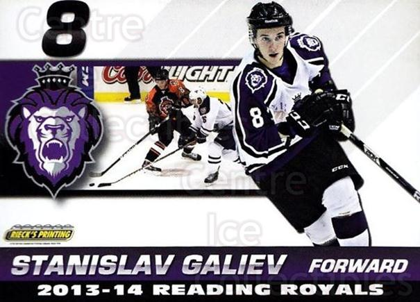 2013-14 Reading Royals #13 Stanislav Galiev<br/>2 In Stock - $3.00 each - <a href=https://centericecollectibles.foxycart.com/cart?name=2013-14%20Reading%20Royals%20%2313%20Stanislav%20Galie...&price=$3.00&code=696261 class=foxycart> Buy it now! </a>