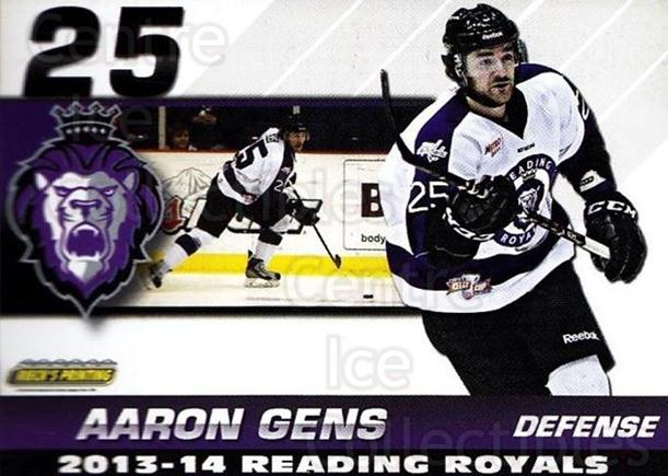 2013-14 Reading Royals #15 Aaron Gens<br/>1 In Stock - $3.00 each - <a href=https://centericecollectibles.foxycart.com/cart?name=2013-14%20Reading%20Royals%20%2315%20Aaron%20Gens...&price=$3.00&code=696263 class=foxycart> Buy it now! </a>