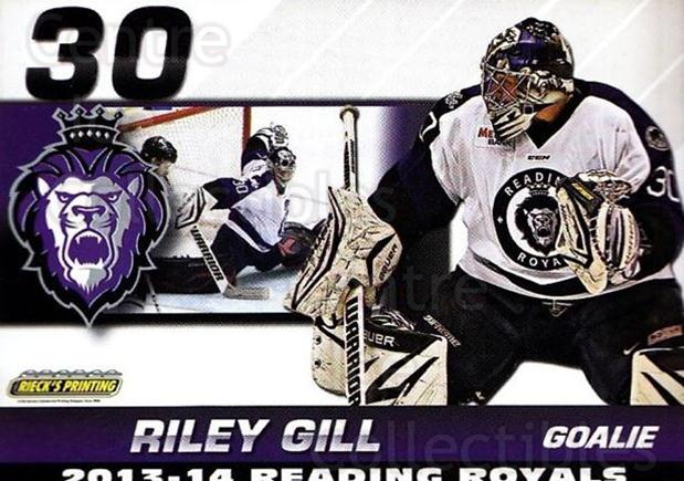 2013-14 Reading Royals #16 Riley Gill<br/>1 In Stock - $3.00 each - <a href=https://centericecollectibles.foxycart.com/cart?name=2013-14%20Reading%20Royals%20%2316%20Riley%20Gill...&price=$3.00&code=696264 class=foxycart> Buy it now! </a>
