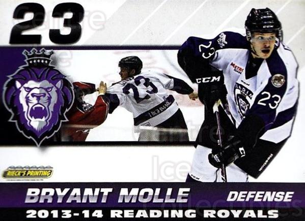2013-14 Reading Royals #17 Bryant Molle<br/>2 In Stock - $3.00 each - <a href=https://centericecollectibles.foxycart.com/cart?name=2013-14%20Reading%20Royals%20%2317%20Bryant%20Molle...&price=$3.00&code=696265 class=foxycart> Buy it now! </a>