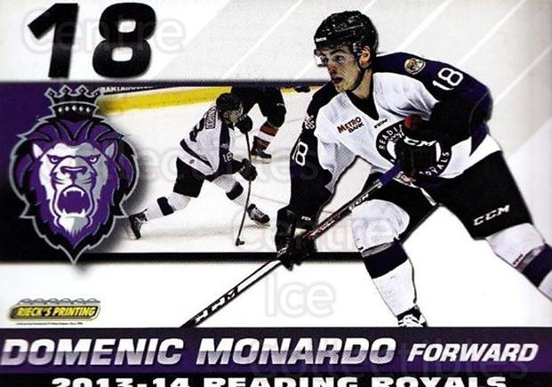 2013-14 Reading Royals #18 Domenic Monardo<br/>1 In Stock - $3.00 each - <a href=https://centericecollectibles.foxycart.com/cart?name=2013-14%20Reading%20Royals%20%2318%20Domenic%20Monardo...&price=$3.00&code=696266 class=foxycart> Buy it now! </a>